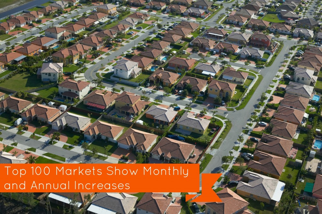 Top 100 Markets Show Monthly and Annual Increases!