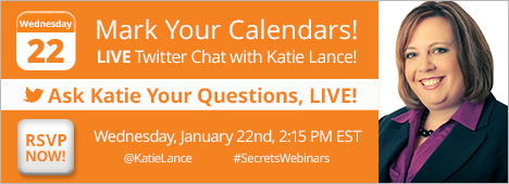 Need Help with Pinterest and Instagram? Live #SecretsWebinars Twitter Chat with Katie Lance!