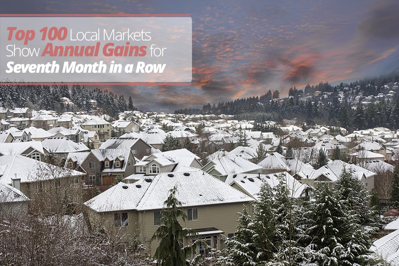 Top 100 Markets Show Annual Gains for Seventh Month In a Row!