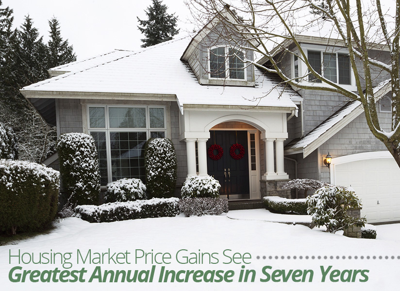 Housing Market Price Gains See Greatest Annual Increase in Seven Years