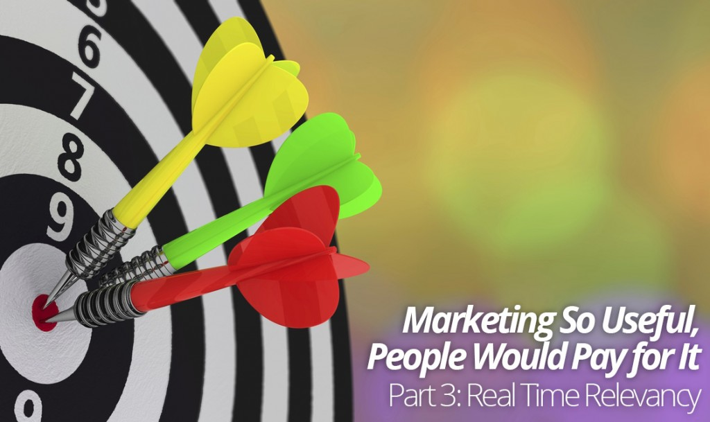 Marketing So Useful, People Would Pay For It- Part Three: Real Time Relevancy