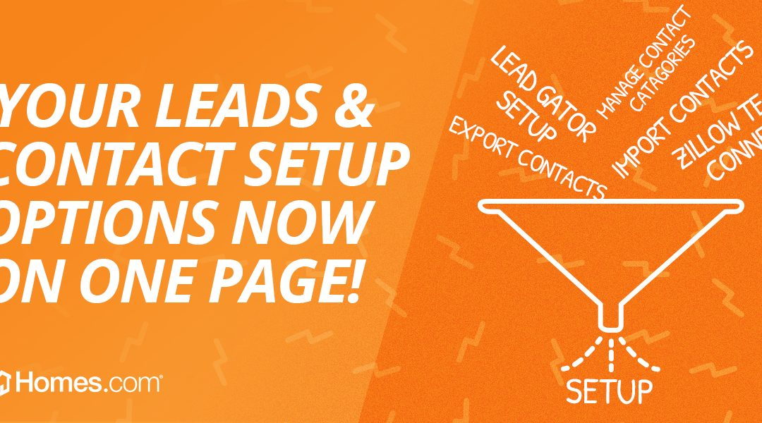 New Leads and Contacts Setup Page: Take Control of Your Leads
