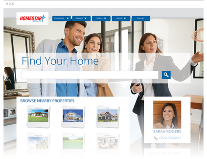 Homes.com offers professional Real Estate Websites