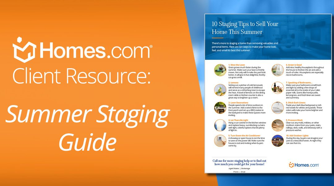 [Free Downloadable] 10 Staging Tips to Give Your Listings a Summer Flare