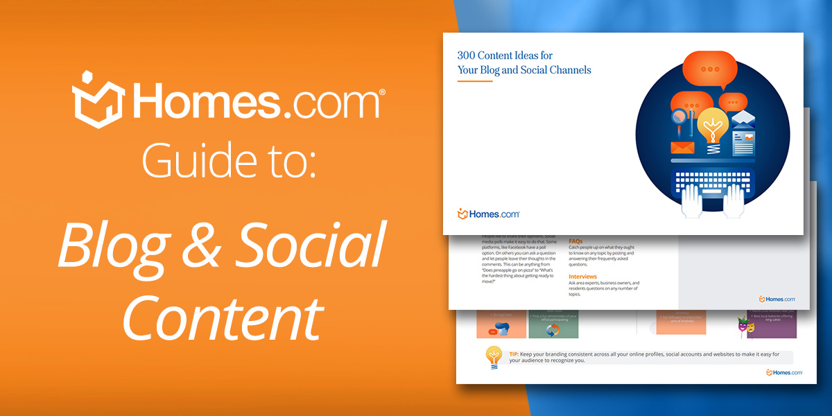 [Free eBook] 300 Content Ideas for Your Real Estate Blog and Social Channels