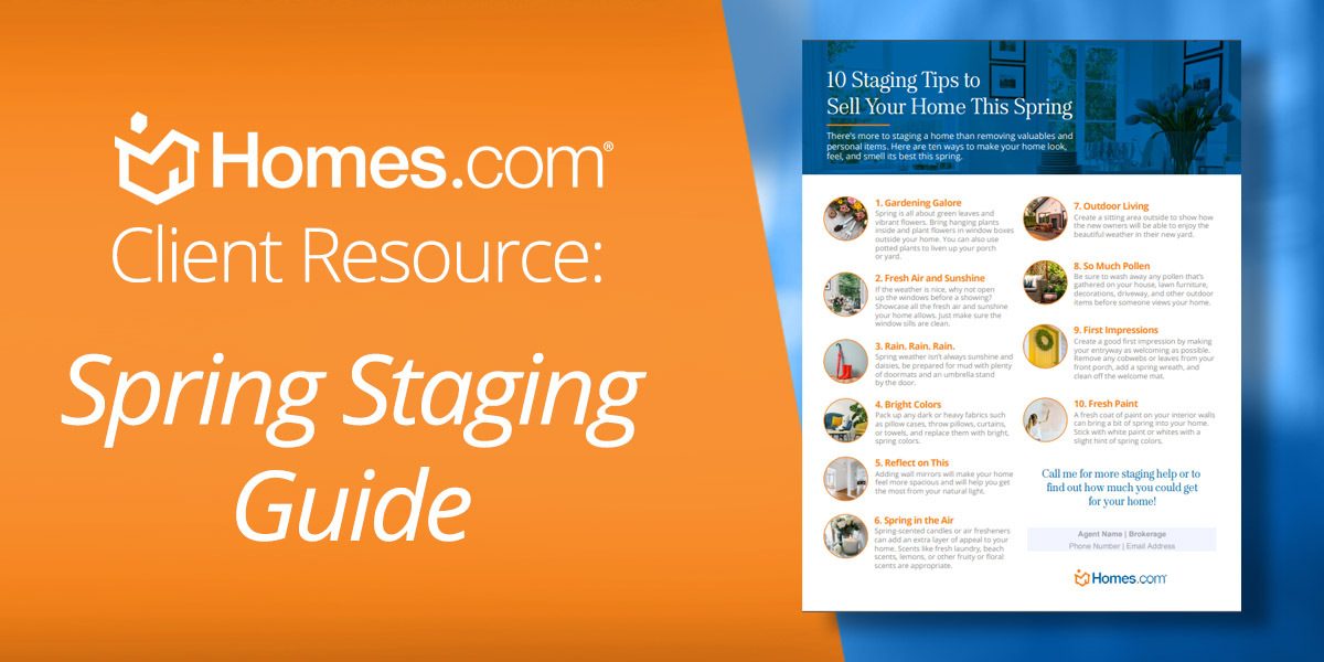 [Free Download] 10 Staging Tips to Sell Your Home This Spring