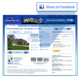 Share your listings on Facebook