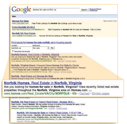 google results
