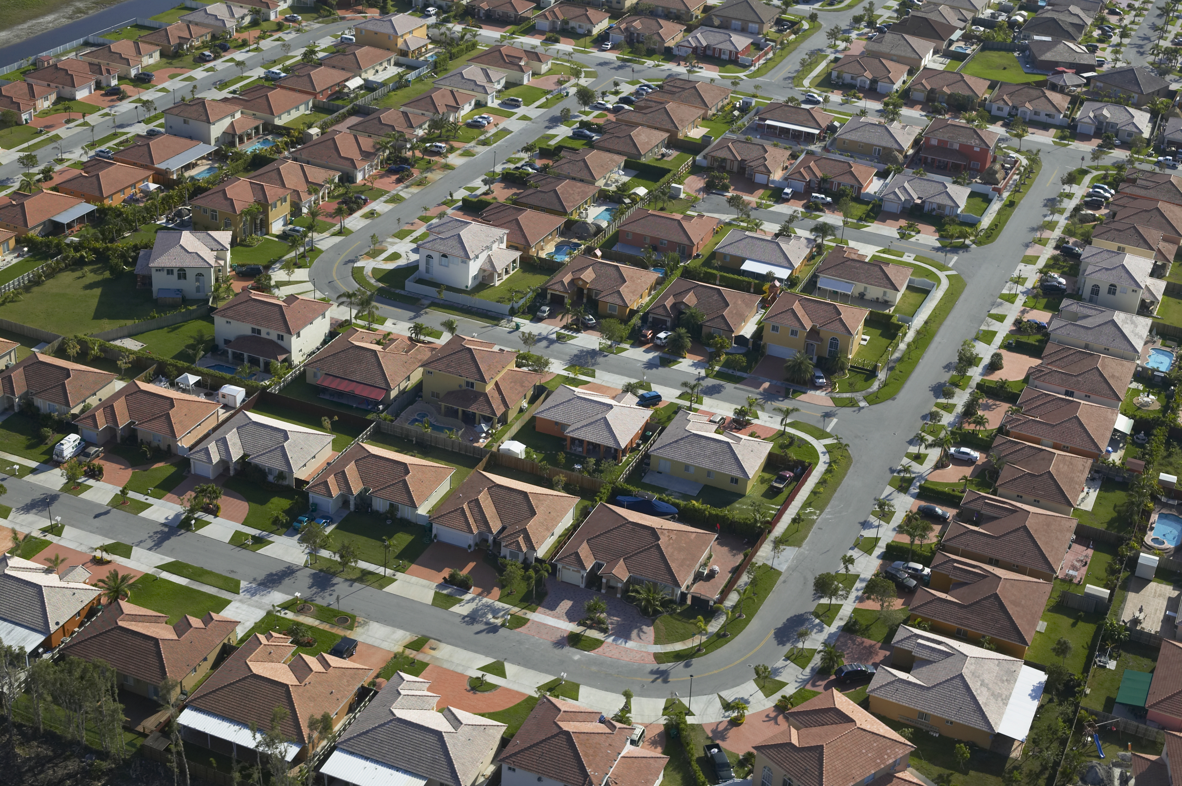 USA, Florida, residential area, aerial view
