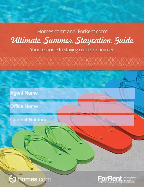 Customize with your branding and share the Homes.com Summer Staycation Guide with your clients!