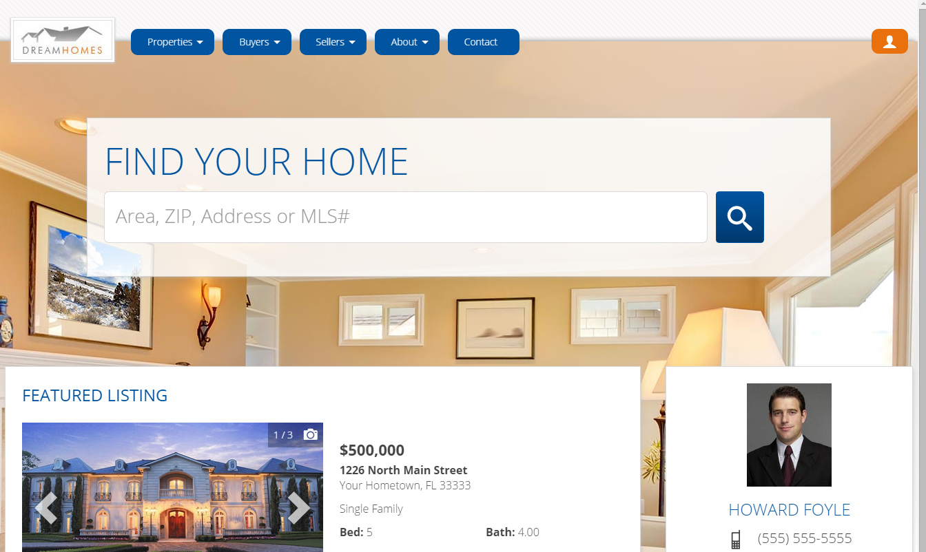 IDX property search with Homes.com