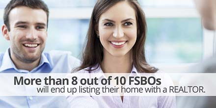 More than 8 out of 10 FSBOs will end up listing their home with a REALTOR.